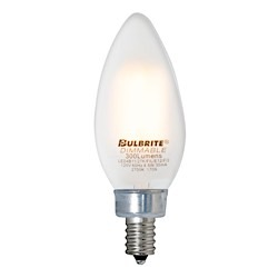 Bulbrite: 776672 LED Filaments: Fully Compatible Dimming, Frost and Milky LED4B11/27K/FIL/E12/F/2