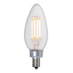 Bulbrite: 776663 LED Filaments: Fully Compatible Dimming, Clear LED4B11/30K/FIL/E12/2