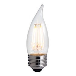 Bulbrite: 776675 LED Filaments: Fully Compatible Dimming, Clear LED4CA10/27K/FIL/E26/2