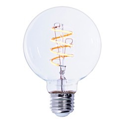 Bulbrite: 776512 LED Filaments Curved: Fully Compatible Dimming LED4G25/22K/FIL-NOS/CURV/SPIRAL