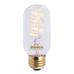 Bulbrite: 776511 LED Filaments Curved: Fully Compatible Dimming LED4T14/22K/FIL-NOS/CURV/SPIRAL