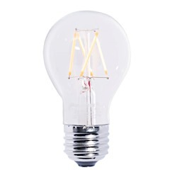 Bulbrite: 776572 LED Filaments: Fully Compatible Dimming, Clear LED5A19/27K/FIL/2