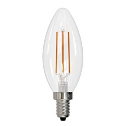 Bulbrite: 776627 LED Filaments: Fully Compatible Dimming, Clear LED5B11/30K/FIL/E12/3