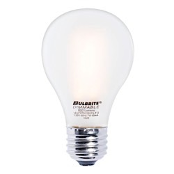 Bulbrite: 776666 LED Filaments: Fully Compatible Dimming, Frost and Milky LED7A19/27K/FIL/F/2