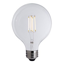 Bulbrite: 776678 LED Filaments: Fully Compatible Dimming, Clear LED7G40/27K/FIL/E26/2