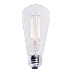Bulbrite: 776667 LED Filaments: Fully Compatible Dimming, Clear LED7ST18/27K/FIL/2
