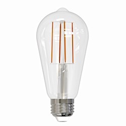 Bulbrite: 776669 LED Filaments: Fully Compatible Dimming, Clear LED7ST18/30K/FIL/2