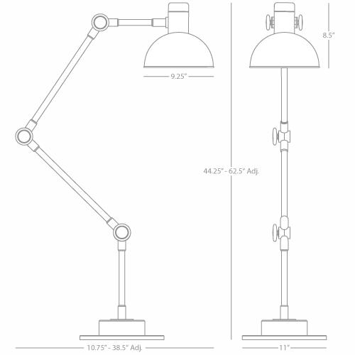 robert abbey lighting 247 rico espinet scout floor lamp